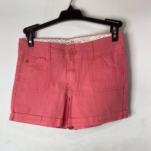 2/20$ Justice Girls Salmon Slim Shorts Size 12